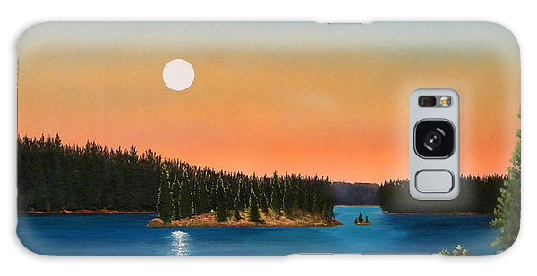 Moonrise Over The Lake Galaxy Case by Frank Wilson