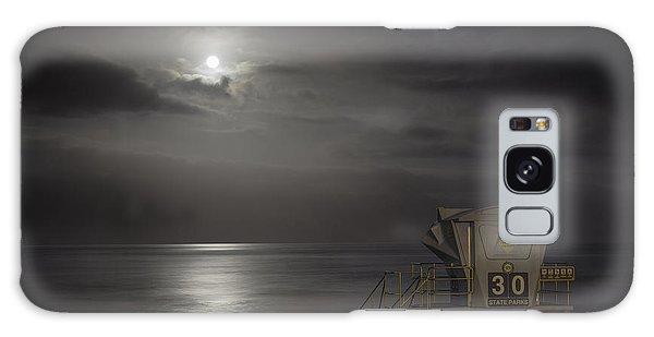 Moonset At Carlsbad Galaxy Case