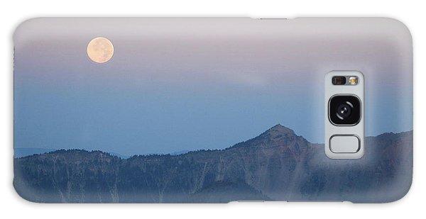 Moonset At Crater Lake Galaxy Case