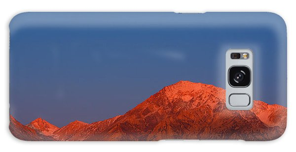 Galaxy Case featuring the photograph Moonset At Dawn Above Mount Tom - Eastern Sierra California by Ram Vasudev