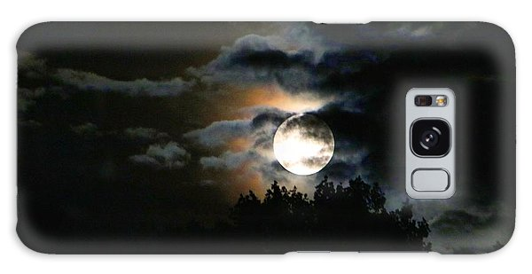Moonset In The Clouds 2 Galaxy Case
