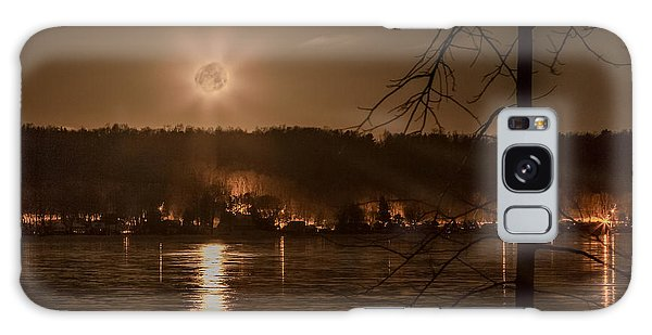 Moonset On Conesus Galaxy Case by Richard Engelbrecht