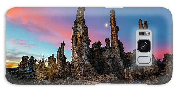 Moonset Over Mono Lake Galaxy Case