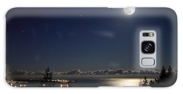 Moonshine Over English Bay Galaxy Case