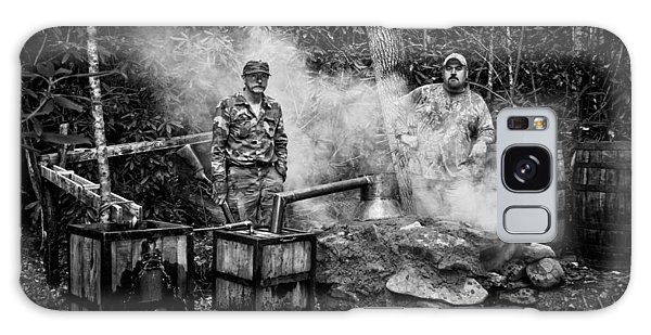Moonshine Still With Mark And Huck In Black And White Galaxy Case