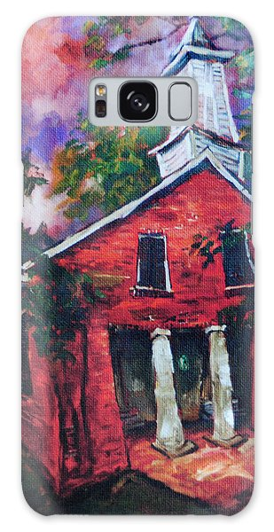 Mooresville Brick Church Galaxy Case by Carole Foret