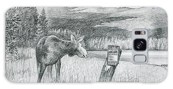 Moose At Big Brook Bog Galaxy Case