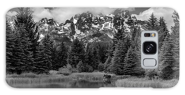 Moose At Schwabacher's Landing Galaxy Case