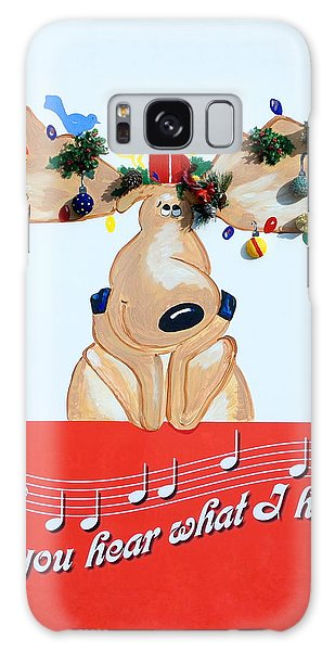 Moose Christmas Greeting Galaxy Case