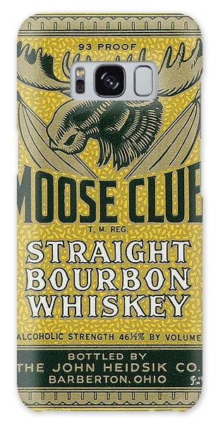 Antique Galaxy Case - Moose Club Bourbon Label by Tom Mc Nemar