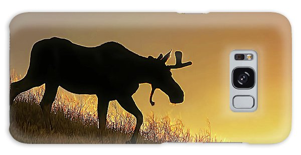 Galaxy Case featuring the photograph Moose Evening Wander by Jennie Marie Schell