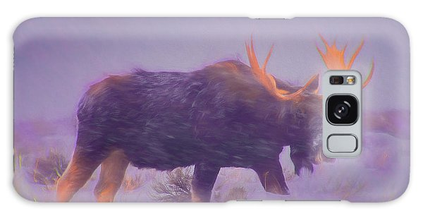 Moose In A Blizzard Galaxy Case