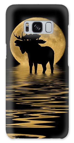 Moose In The Moonlight Galaxy Case