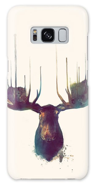Antlers Galaxy Case - Moose // Squared Format by Amy Hamilton