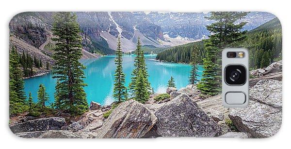 Moraine Lake Galaxy Case - Moraine Lake Afternoon II by Joan Carroll