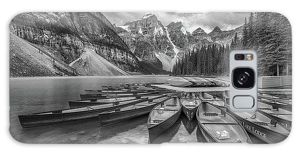 Moraine Lake In Black And White Galaxy Case