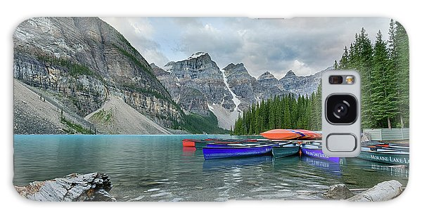 Moraine Logs And Canoes Galaxy Case