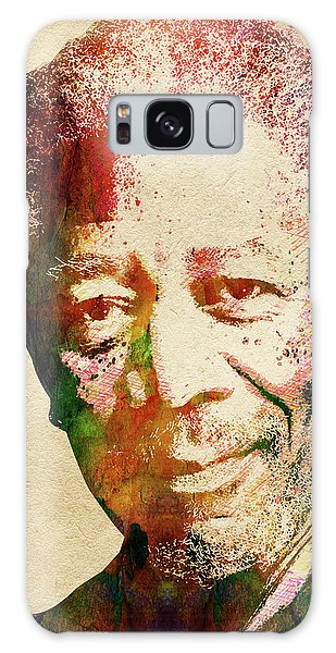 Morgan Freeman Galaxy Case by Mihaela Pater