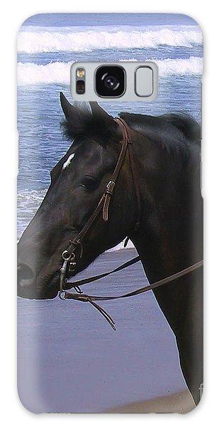 Morgan Head Horse On Beach Galaxy Case