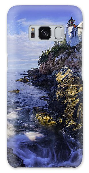 Morning At Bass Harbor Lighthouse Galaxy Case