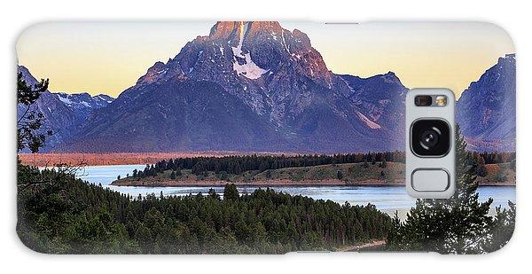 Morning At Mt. Moran Galaxy Case by David Chandler