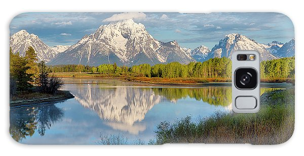 Morning At Oxbow Bend Galaxy Case