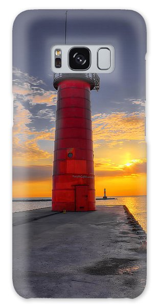 Morning At The Kenosha Lighthouse Galaxy Case