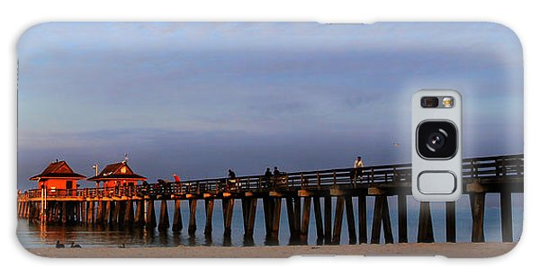 Morning At The Naples Pier Galaxy Case by Sean Allen