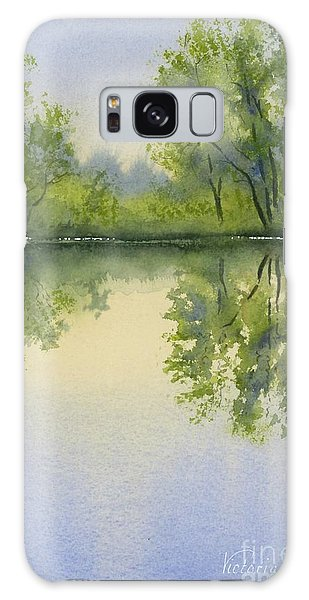 Morning At Turtle Pond Galaxy Case