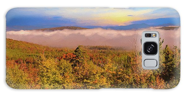 Morning Autumn Landscape Northern New Hampshire Galaxy Case
