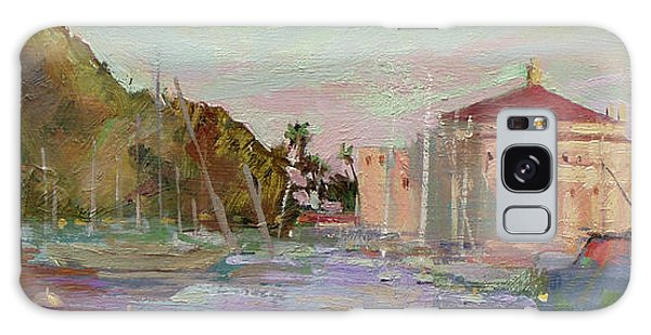 Morning Avalon Harbor - Catalina Island Galaxy Case