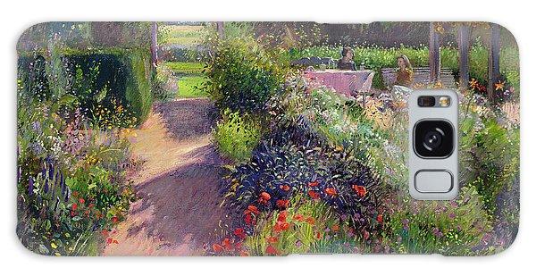 Floral Garden Galaxy Case - Morning Break In The Garden by Timothy Easton