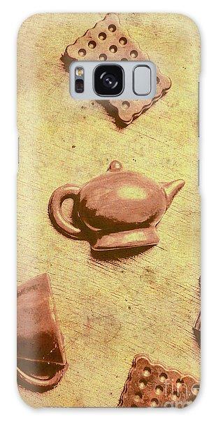Cafe Galaxy Case - Morning Breakfast Chocolate Tea Set  by Jorgo Photography - Wall Art Gallery