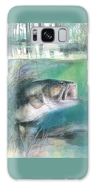 Galaxy Case featuring the painting Morning Catch by John Dyess