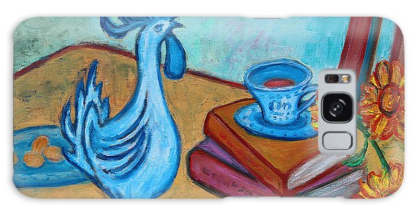 Galaxy Case featuring the painting Morning Coffee Rooster by Xueling Zou