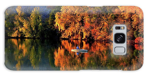 Morning Fishing On Lake Winona Galaxy Case