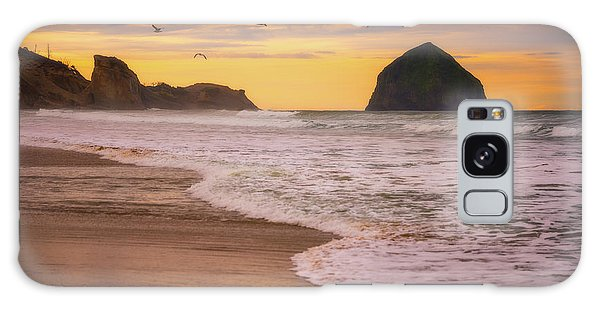 Galaxy Case featuring the photograph Morning Flight Over Cape Kiwanda by Darren White