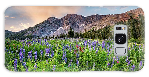 Morning Flowers In Little Cottonwood Canyon, Utah Galaxy Case