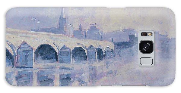 Morning Fog Around The Old Bridge Galaxy Case