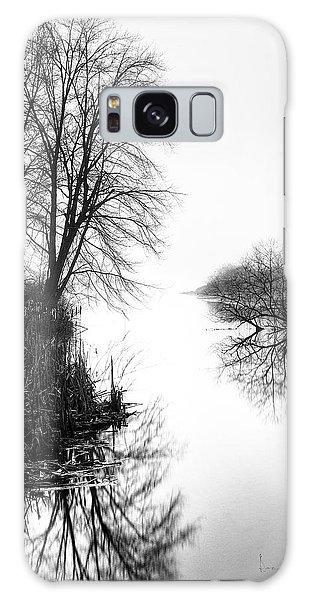 Morning Fog - Inlet, Lake Logan Galaxy Case