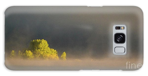 Morning Fog On Jackson Lake Grand Teton National Park  Galaxy Case