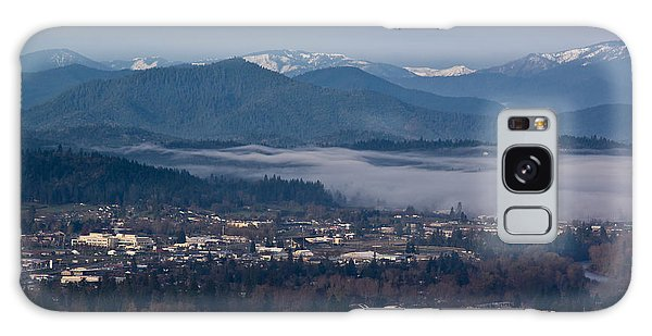 Morning Fog Over Grants Pass Galaxy Case by Mick Anderson