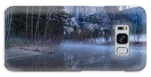 Morning Fog Yosemite Falls Galaxy Case