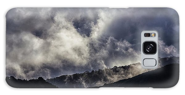 Morning Fog,mist And Cloud On The Moutain By The Sea In Californ Galaxy Case