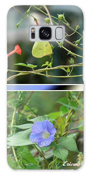 Morning Glories And Butterfly Galaxy Case by EricaMaxine  Price