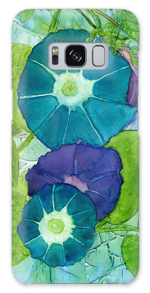 Morning Glories In Watercolor On Yupo Galaxy Case