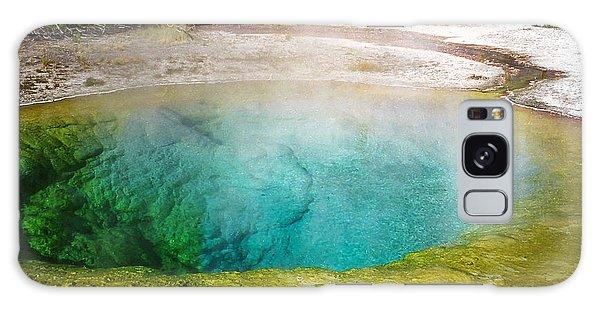 Morning Glory Pool Yellowstone National Park Galaxy Case