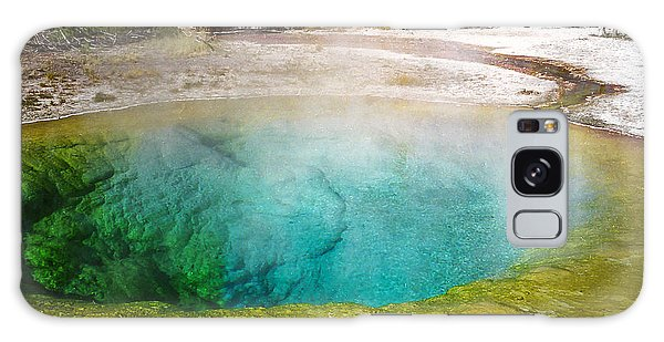 Morning Glory Pool Yellowstone National Park Galaxy Case