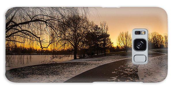 Morning Glow Along Hoyt Lake Galaxy Case by Chris Bordeleau