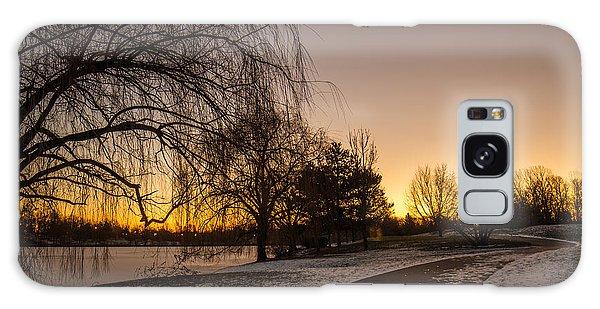 Morning Glow Along Hoyt Lake Galaxy Case